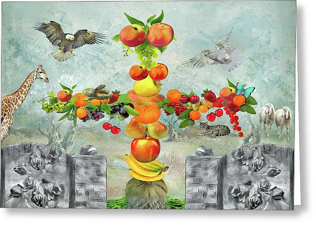 Melon Greeting Cards - In the garden Eden Greeting Card by Manfred Lutzius
