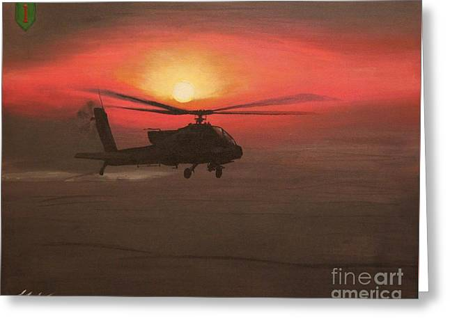 In The Heat Of Night Over Baghdad Greeting Card by Leo Amoling