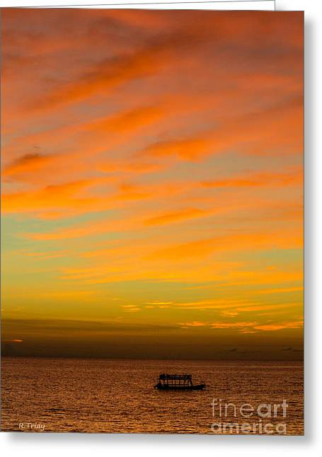 Ocean Photography Greeting Cards - In the Heat of the Night Greeting Card by Rene Triay Photography