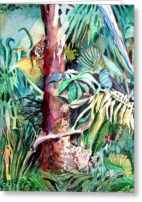 Eco System Greeting Cards - In the Jungle Greeting Card by Mindy Newman