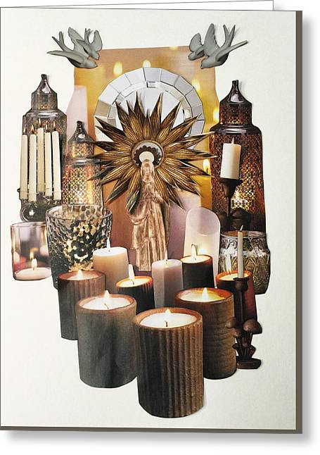 Candle Lit Greeting Cards - In The Light Greeting Card by Emily Hendricksen