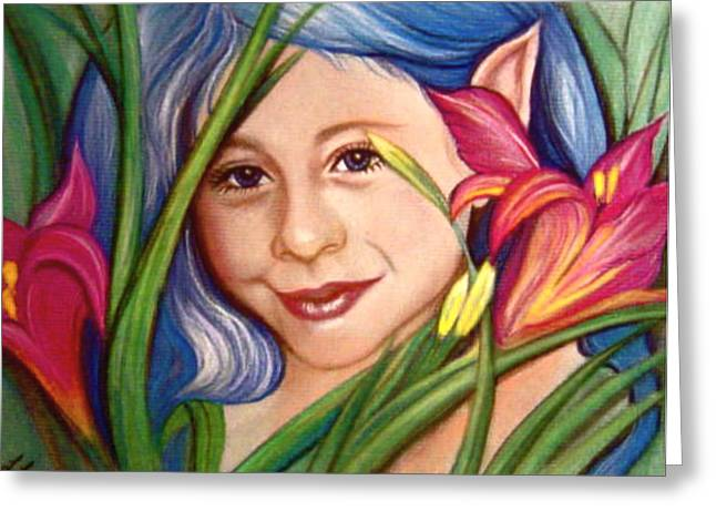 Commissions Pastels Greeting Cards - In the Lillies Greeting Card by L Lauter