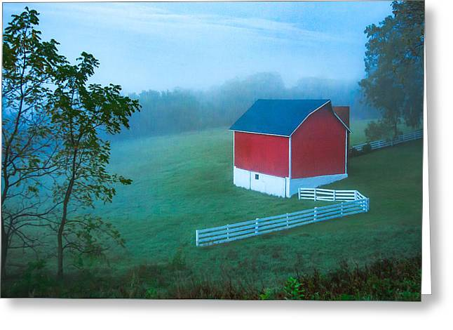 In The Midst Of The Mist Greeting Card by Todd Klassy