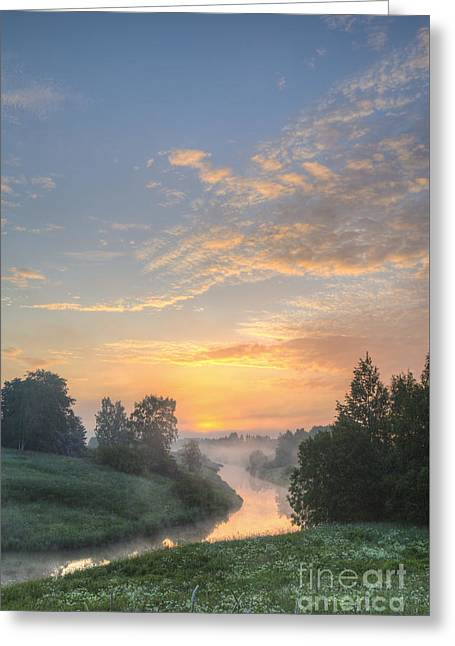 Vibrant Photographs Greeting Cards - In the morning at 04.27 Greeting Card by Veikko Suikkanen