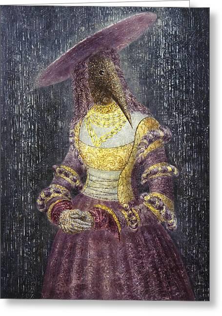 Imaginary World Greeting Cards - In the Rain Greeting Card by Lolita Bronzini