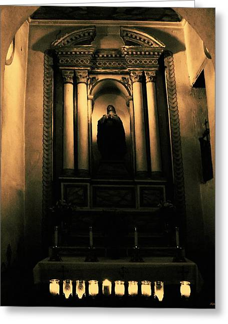 Catholic Mission Greeting Cards - In The Sanctuary Greeting Card by Glenn McCarthy Art and Photography