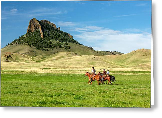 In The Shadow Of Birdtail Butte Greeting Card by Todd Klassy