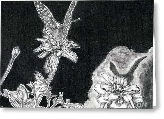 In The Shadow Of His Wings Greeting Card by Joy Neasley