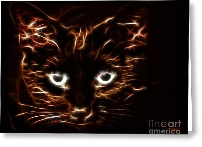 Siamese Cat Print Greeting Cards - In the Shadows Greeting Card by Denise Oldridge