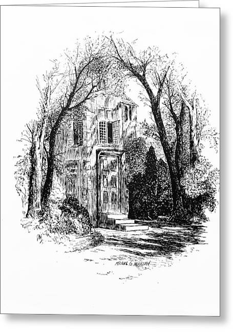 Pen And Ink Rural Drawings Greeting Cards - In the Shadows Greeting Card by Michael Wicksted