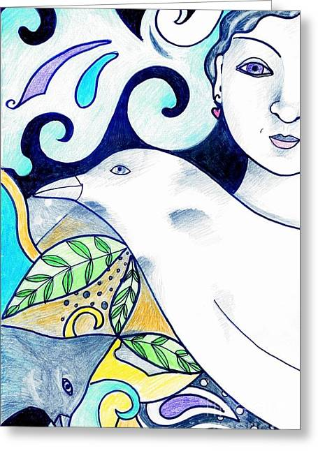 In The Spirit Of Unity 1 Greeting Card by Helena Tiainen