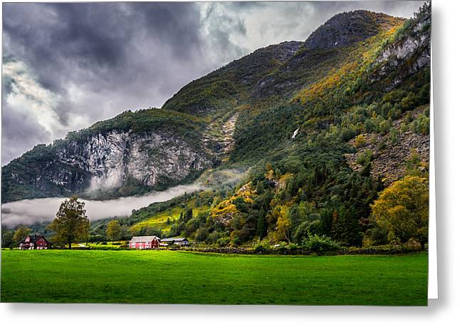 Autumn Scene Photographs Greeting Cards - In the valley Greeting Card by Dmytro Korol