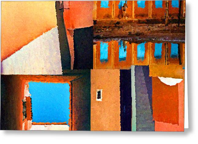 Warm Tones Greeting Cards - In The Village Greeting Card by Joel Thompson