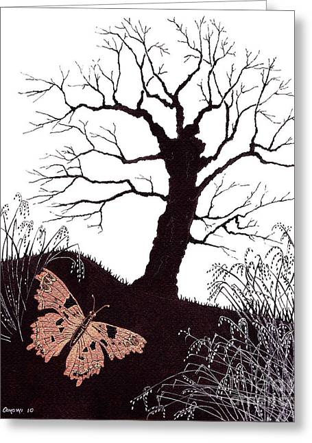 In The Winter Woods Greeting Card by Stanza Widen