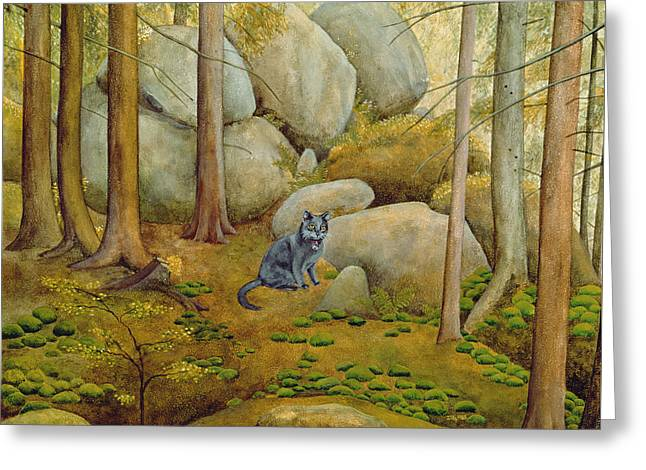 In The Wood Greeting Card by Ditz