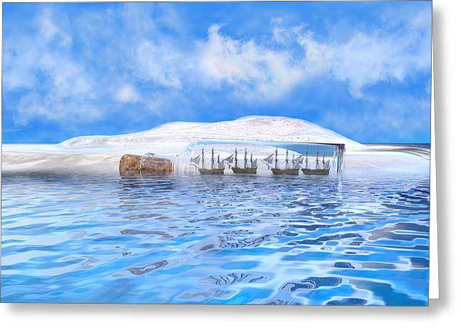 In Their Own Minds--serenity Point Greeting Card by Betsy Knapp