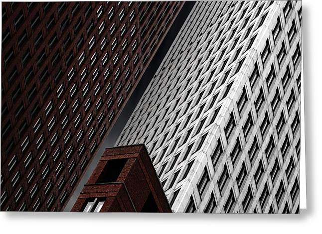 Skyscraper Greeting Cards - In Tribulation Greeting Card by Gilbert Claes
