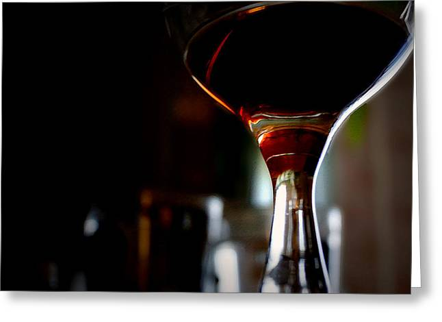 Table Wine Greeting Cards - In Vino Veritas Greeting Card by Lana Art