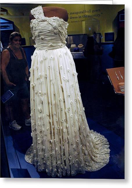 Ball Gown Greeting Cards - Inaugural gown on display Greeting Card by LeeAnn McLaneGoetz McLaneGoetzStudioLLCcom