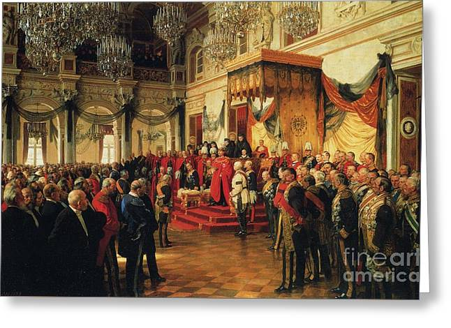 Inauguration Greeting Cards - Inauguration Greeting Card by Anton von Werner
