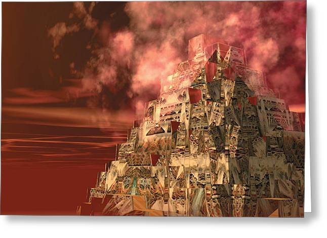 Pyramids Greeting Cards - Incan Greeting Card by Bill Ellsworth