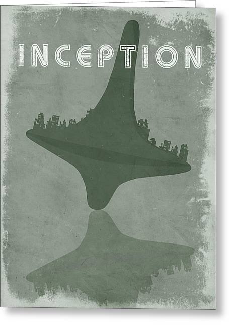 Bedroom Greeting Cards - Inception movie poster Greeting Card by Mihaela Pater