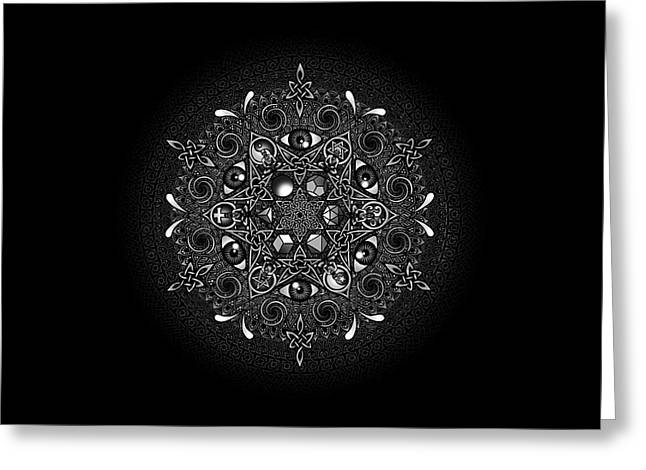 Mandala Greeting Cards - Inclusion Greeting Card by Matthew Ridgway