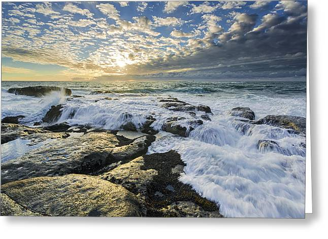Sunset Seascape Greeting Cards - Incoming II Greeting Card by Robert Bynum