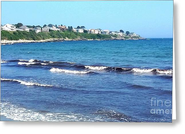 New England Ocean Greeting Cards - Incoming Tide At Long Sands Beach Maine Greeting Card by Gina Sullivan