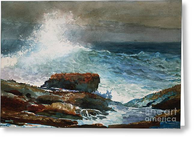 Incoming Tide Greeting Cards - Incoming Tide Scarboro Maine Greeting Card by Celestial Images