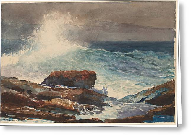 Incoming Tide Greeting Cards - Incoming Tide - Scarboro - Maine Greeting Card by Winslow Homer