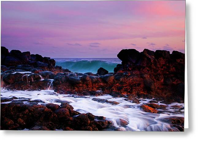 Incoming Wave Greeting Card by Mike  Dawson