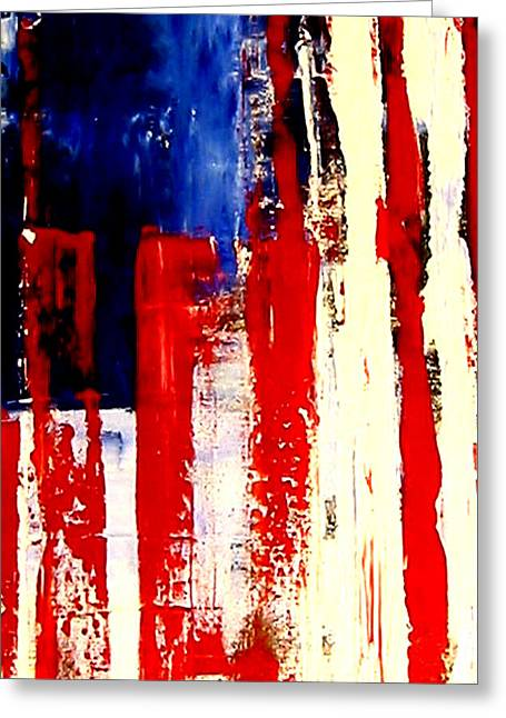 Independence Day Mixed Media Greeting Cards - Independence Day Greeting Card by Charles Jos Biviano