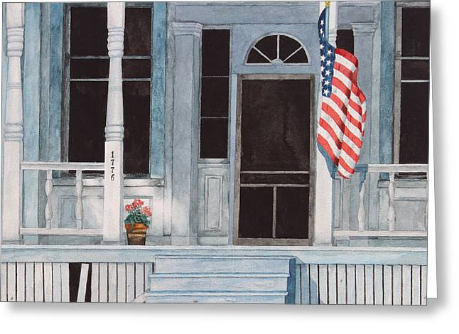 Flag Of Usa Greeting Cards - Independence Day Greeting Card by Marcus M Jones