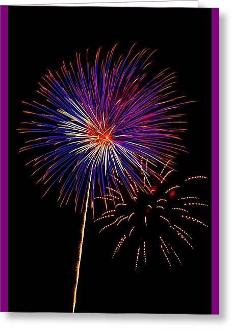 Pyrotechnics Greeting Cards - Independence Day Greeting Card by William Bentley