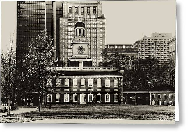 Independence Hall Greeting Card by Bill Cannon