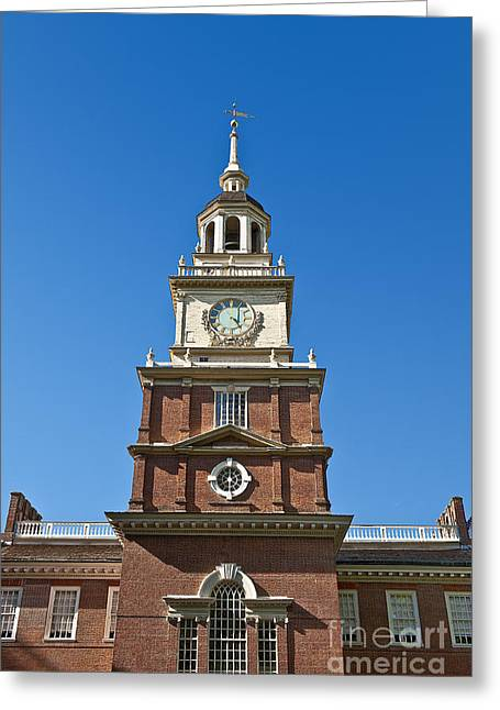 Philadelphia Tourist Site Greeting Cards - Independence Hall Greeting Card by John Greim