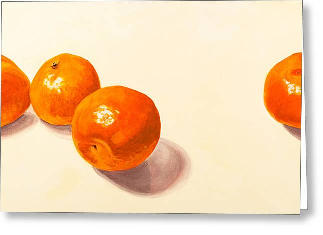 Tangerine Greeting Cards - Independence Greeting Card by Lissa Banks
