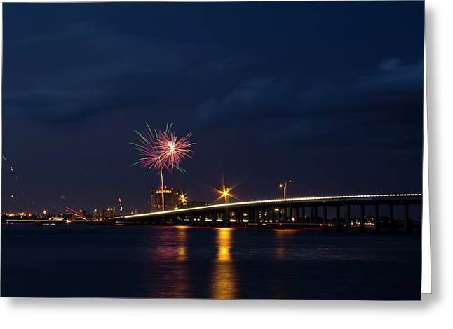 Independence On The River Greeting Card by Nicholas Evans
