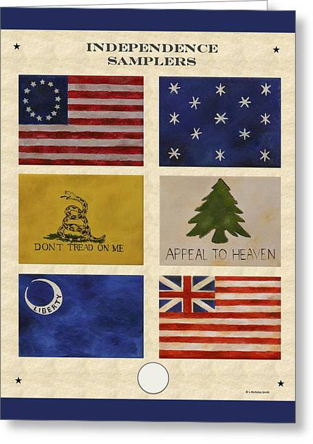 4th July Paintings Greeting Cards - Independence Samplers Greeting Card by Nicholas Smith