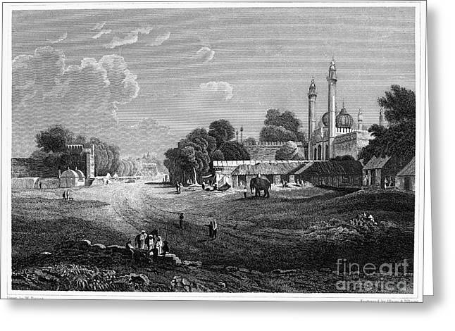 19th Century Architecture Greeting Cards - INDIA: DELHI, 19th CENTURY Greeting Card by Granger