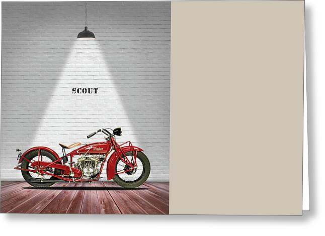 Scout Greeting Cards - Indian 101 Scout 1929 Greeting Card by Mark Rogan