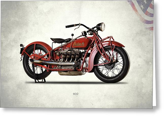 Indian 402 1931 Greeting Card by Mark Rogan
