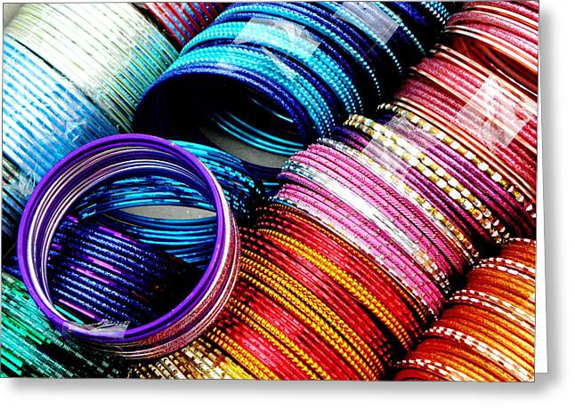 Indian Bangles Greeting Card by Elizabeth Hoskinson