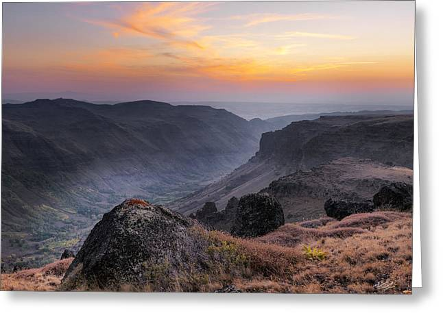 Indian Canyon Steens Greeting Card by Leland D Howard