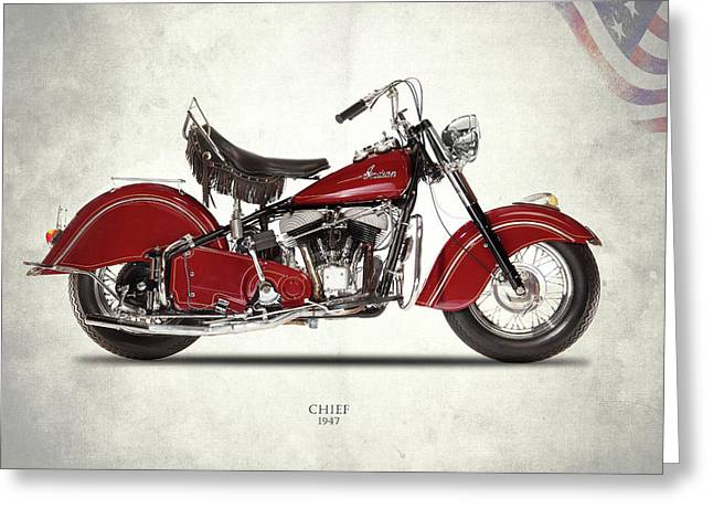Indian Chief 1947 Greeting Card by Mark Rogan