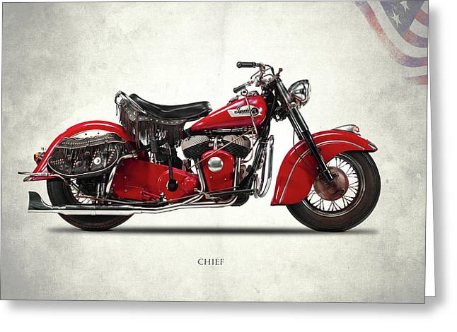 Indian Chief 1950 Greeting Card by Mark Rogan