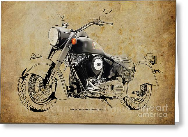 Indian Chief Dark Horse 2012 Greeting Card by Pablo Franchi