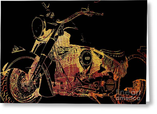 Indian Chief On Brooklin Greeting Card by Pablo Franchi
