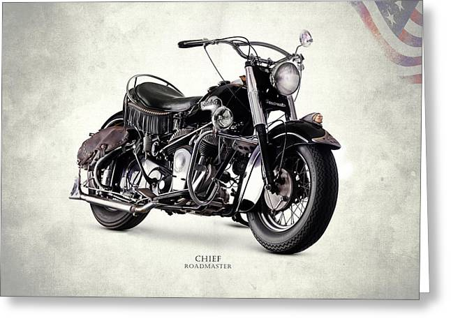 Indian Chief Roadmaster 1953 Greeting Card by Mark Rogan